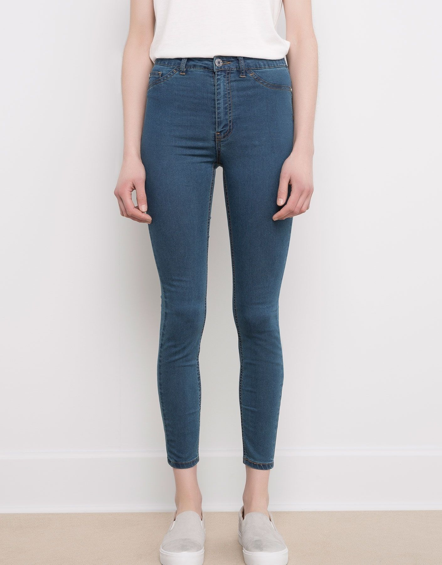 jegging basic taille haute jeans femme pull bear france