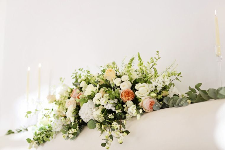 Low Long Centerpiece Silk Flower Centerpieces Flower