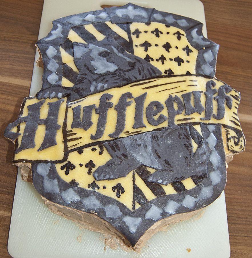Hufflepuff Cake by ~littleDragonDaniela on deviantART