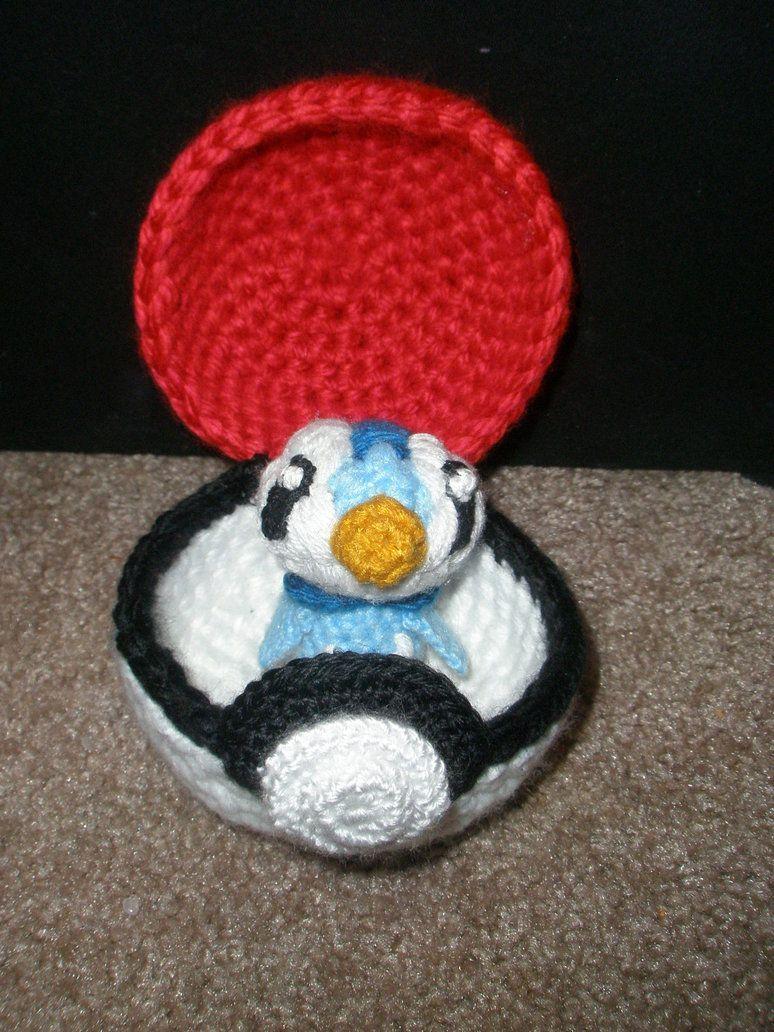 Functional Pokeball With Piplup Amigurumi Crochet Pokemon My