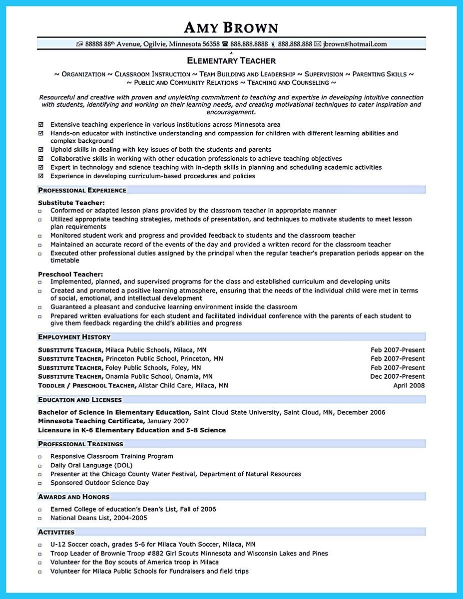 Creative and Extraordinary Art Teacher Resume for Any