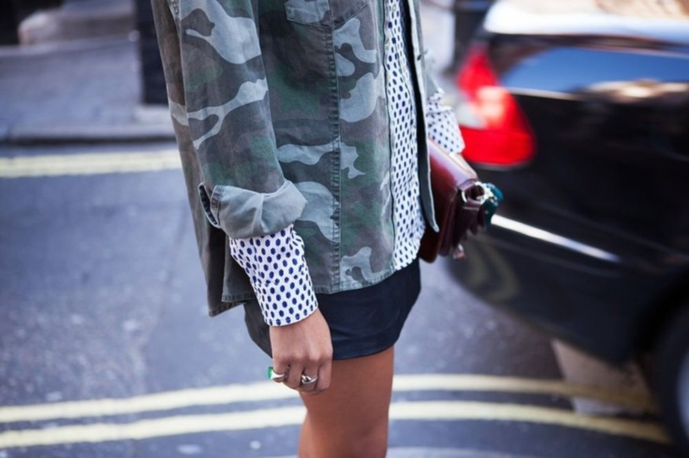 Mod Military Prints for Fall