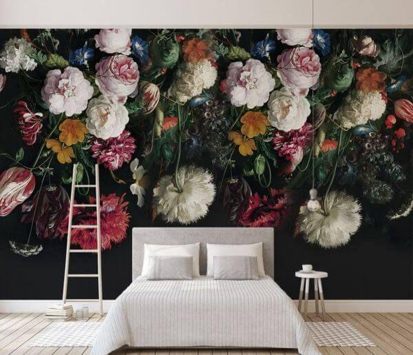 Fototapeta Duze Kwiaty 25093 Uwalls Pl Mural Wallpaper Wall Wallpaper Traditional Wallpaper