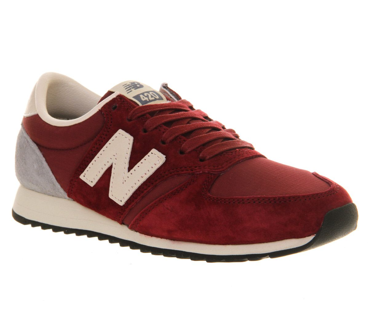 Mens New Balance U420 DARK RED Trainers Shoes