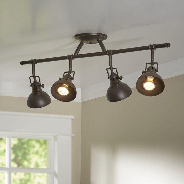 Dollinger 4 Light Fixed Track Kit Track Lighting Kitchen