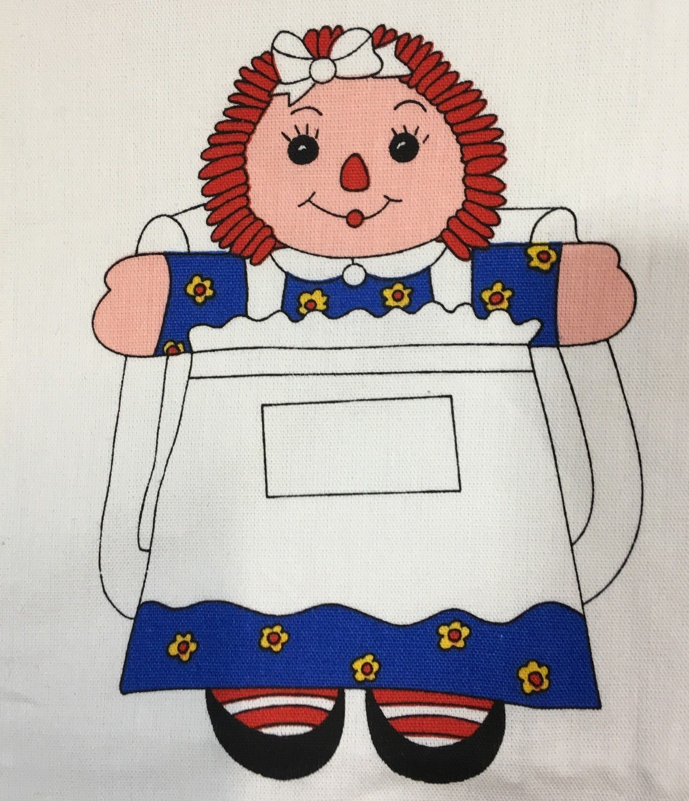 Raggedy Ann Doll Backpack Fabric Panel Cut and Sew Craft Tote Bag ...