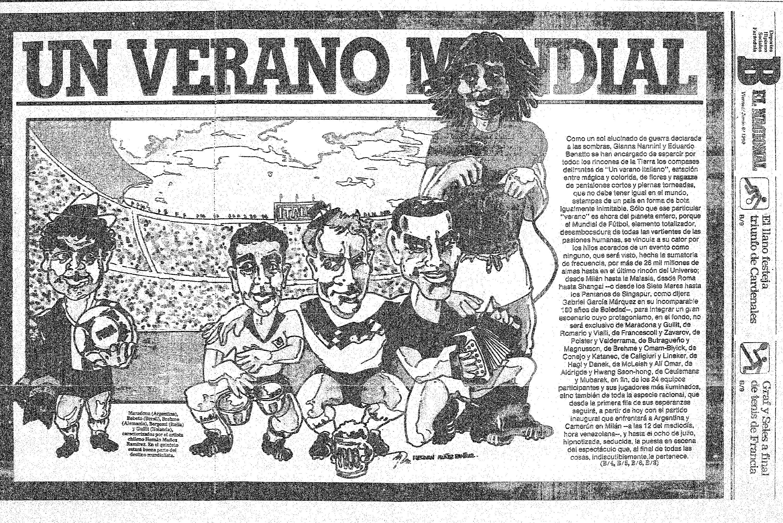 Mundial Italia. Publicado el 8 de julio de 1990.