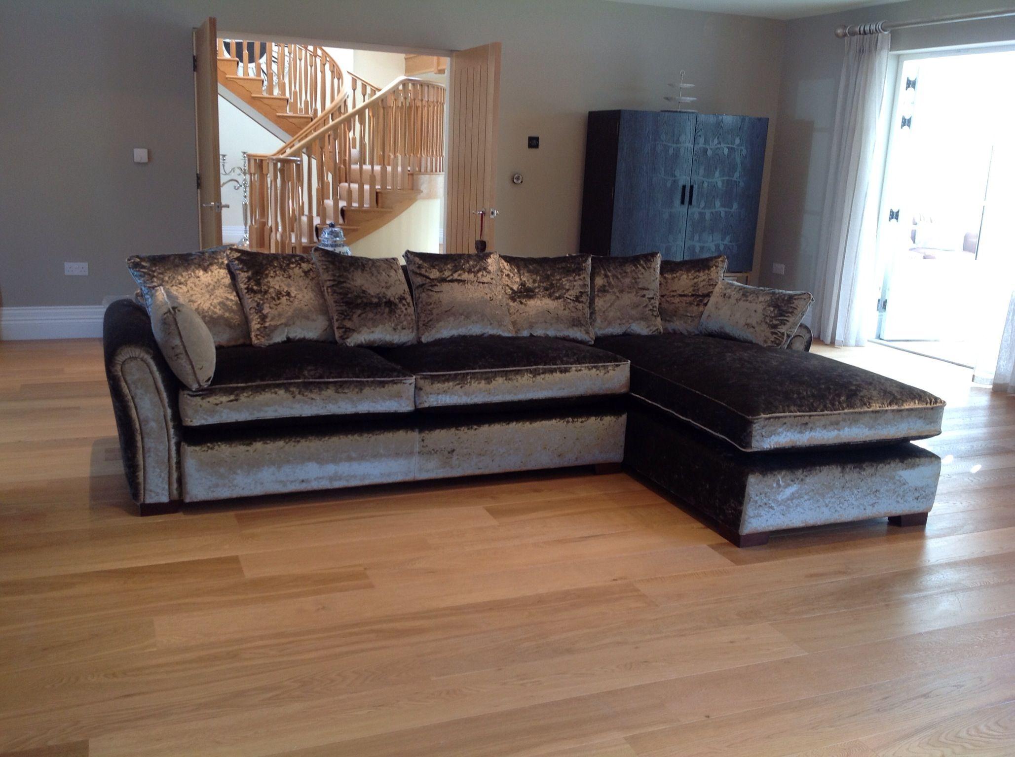 Attic bedroom tufted sofa