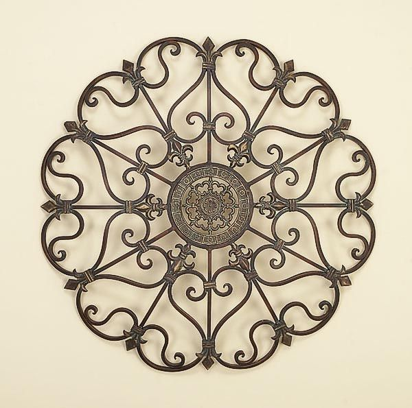 Roundness And Sculptured Wrought Iron Wall Decor Iron Wall Art Gold Metal Wall Art