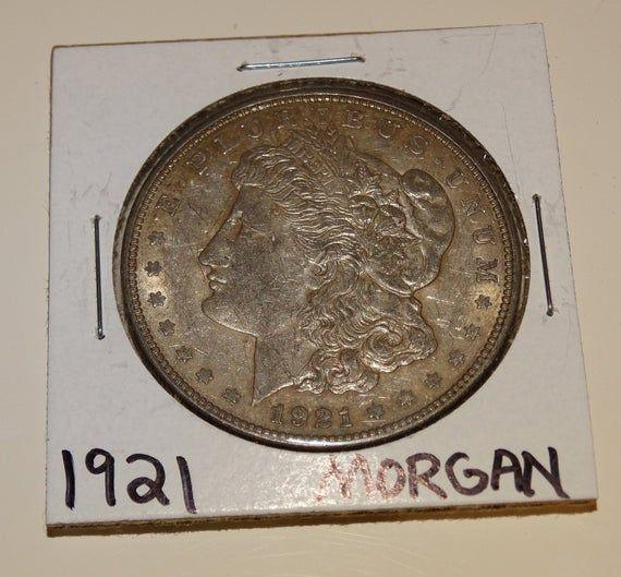 1921 Silver Dollar, Mint Mark D, Inventory vintage