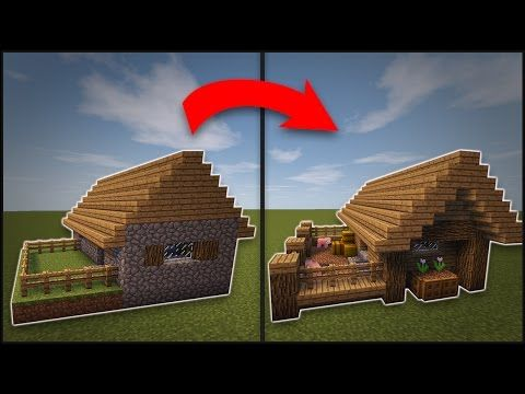 Minecraft How To Remodel A Village Small House Youtube Minecraft Crafts Minecraft Projects Minecraft
