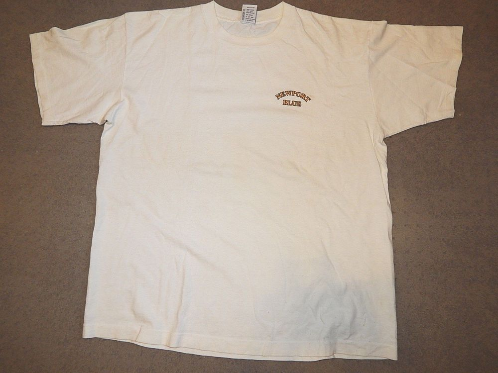 NEWPORT BLUE speed boats boating T shirt size XL white #NewportBlue #GraphicTee