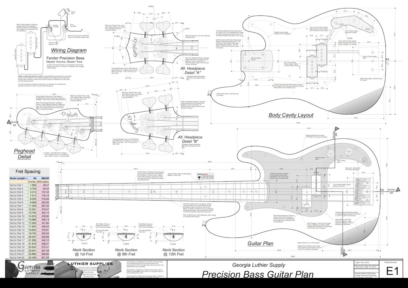 hight resolution of p bass blueprints