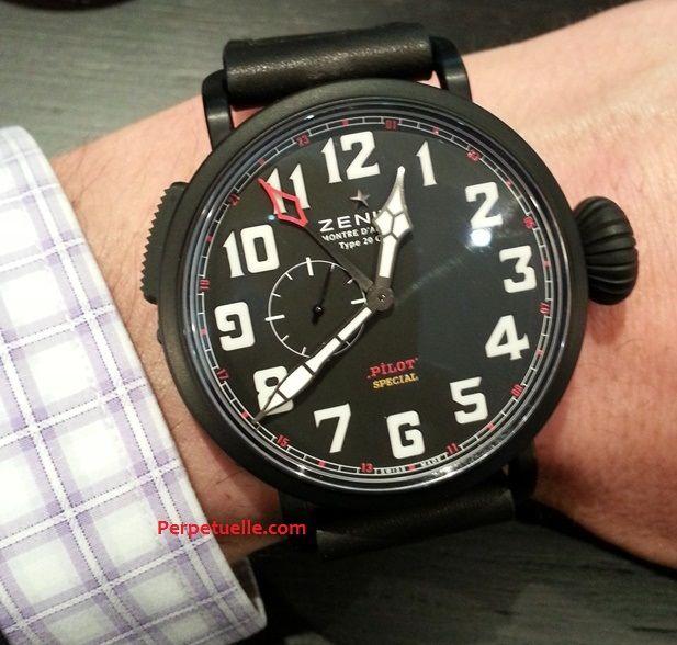 Zenith Pilot Baron Rouge Montre d'Aéronef Type 20 GMT Watch