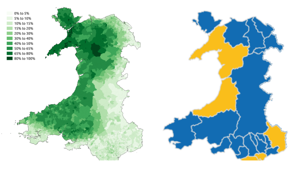 Welsh Language And Brexit Referendum Result MAPS Pinterest - World map in welsh language