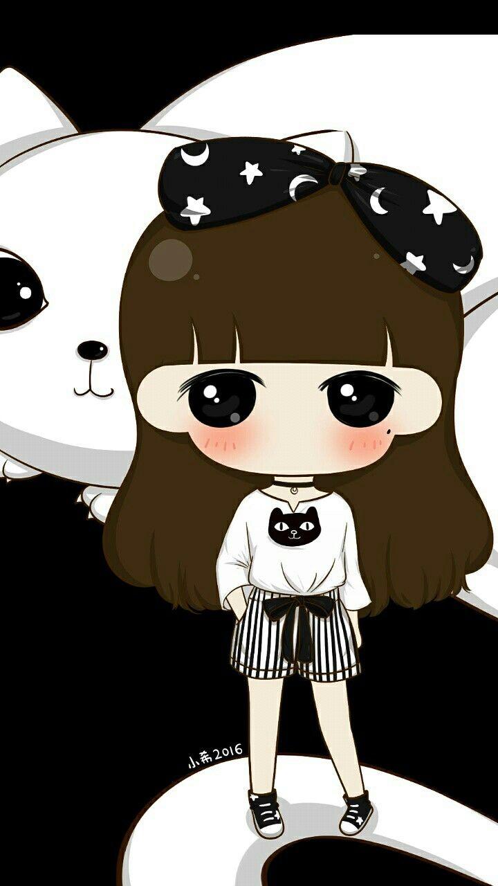 Kiwawi Cute Girl Cartoon Art Girl N Art Girl Cute Wallpapers