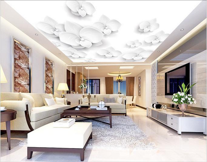 Goedkope Europa custom behang non woven 3d plafond muurschilderingen ...