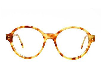 c447f61e03 oversized round glasses frames - vintage tortoise eyeglasses - light brown  transparent vintage glasses - panto eyeglass style - Bowie Pastel