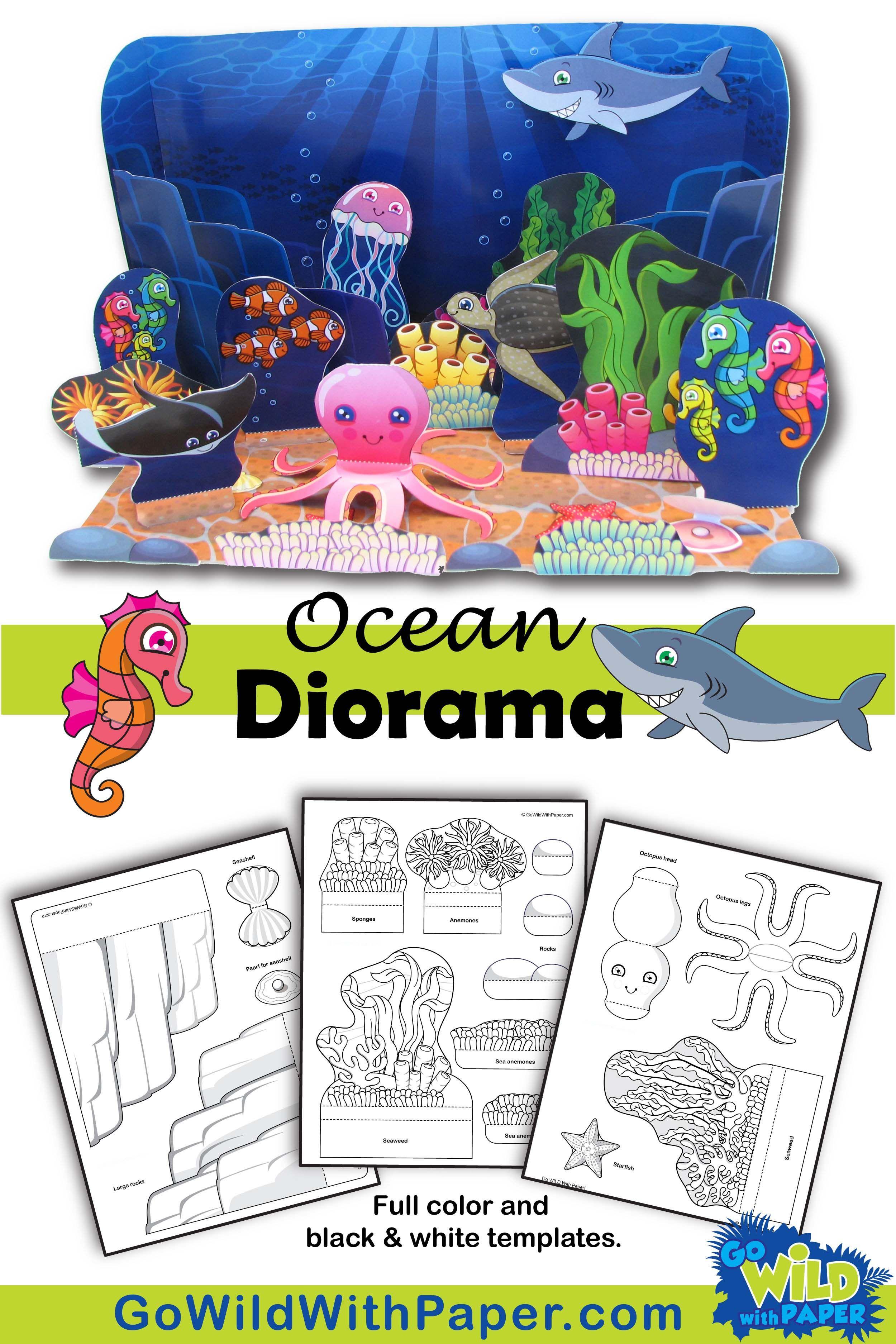 Ocean Diorama Project - Animal Habitat Activity