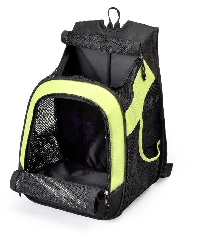 sac à dos ou ventral pocket vert transport pour petit chien ou
