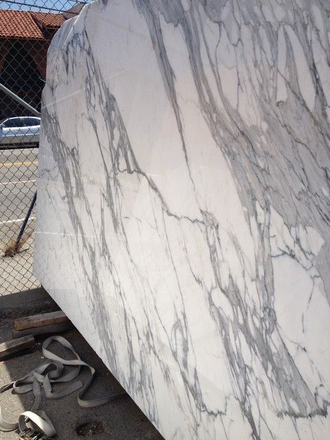 Italian Calacatta Gold Marble Slabs From Royal Stone Tile In Los Angeles Kitchen Countertops