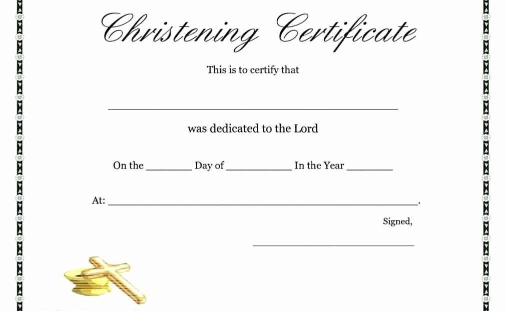 Free Printable Baptism Certificates Fresh Free Printable Baptism Cert Certificate Templates Free Gift Certificate Template Free Printable Certificate Templates
