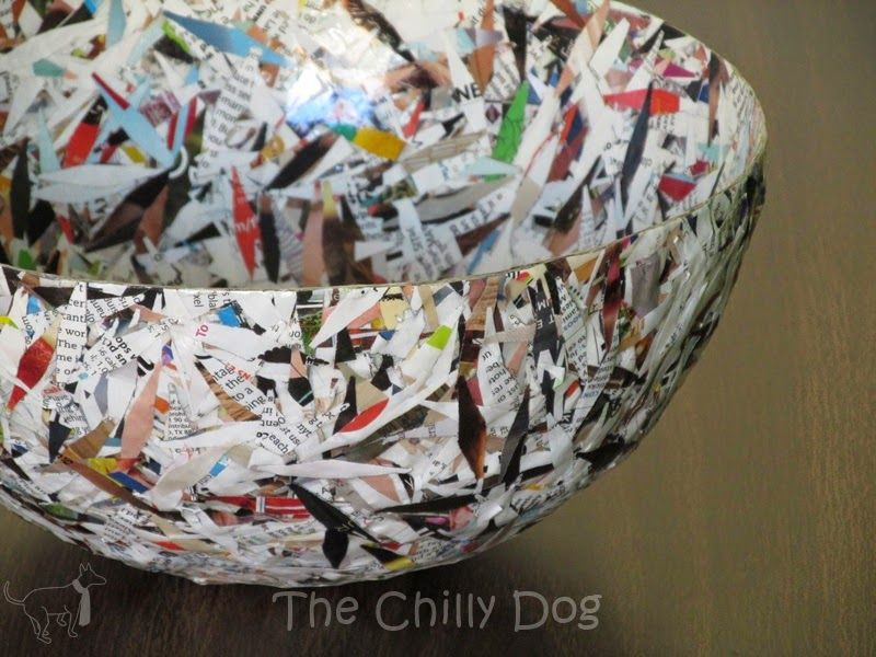 Craft Challenge Tutorial Paper Bowl Recycled Paper Crafts