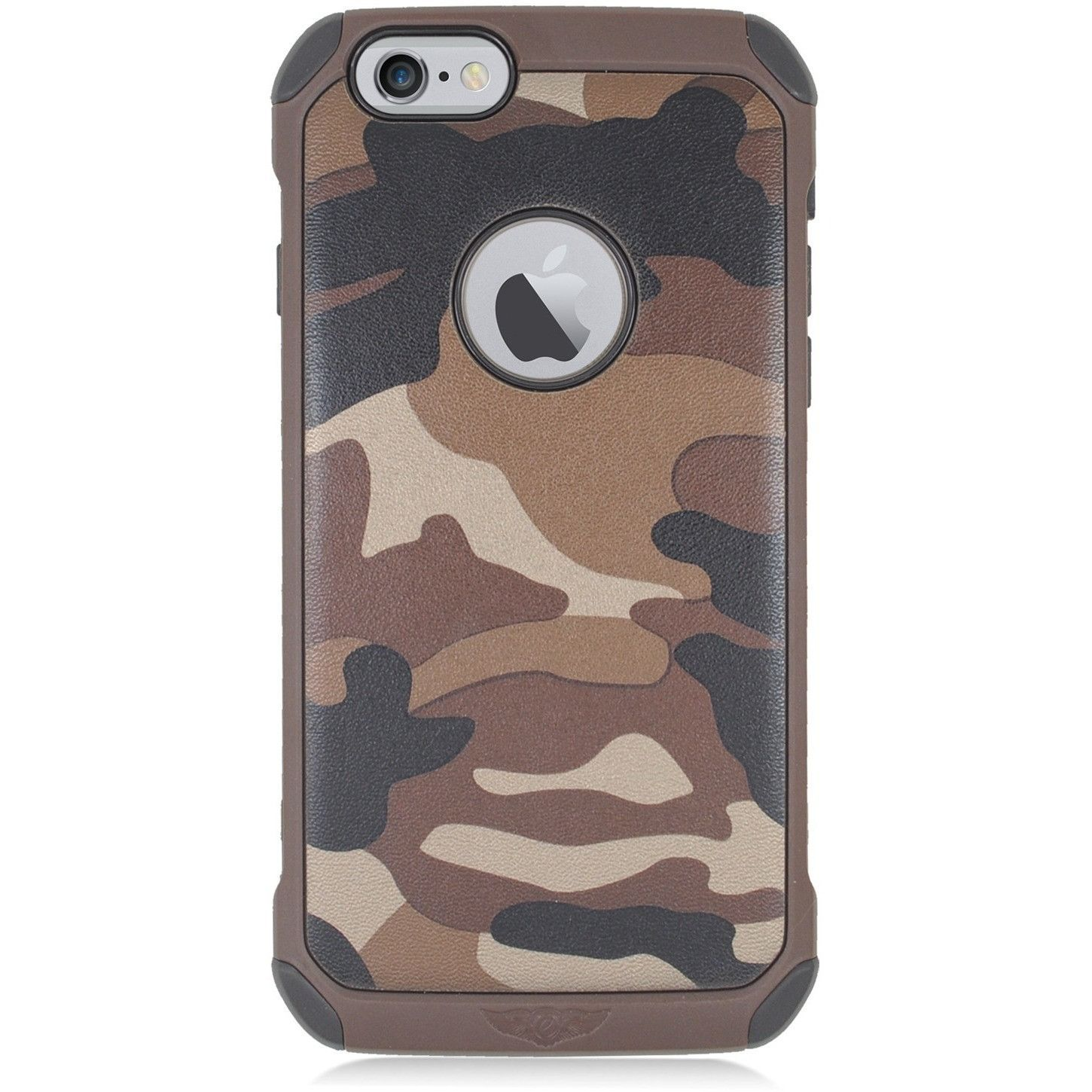 "EGC Apple iPhone 6 (4.7"") Hybrid TPU Armor Case - Brown Camouflage"