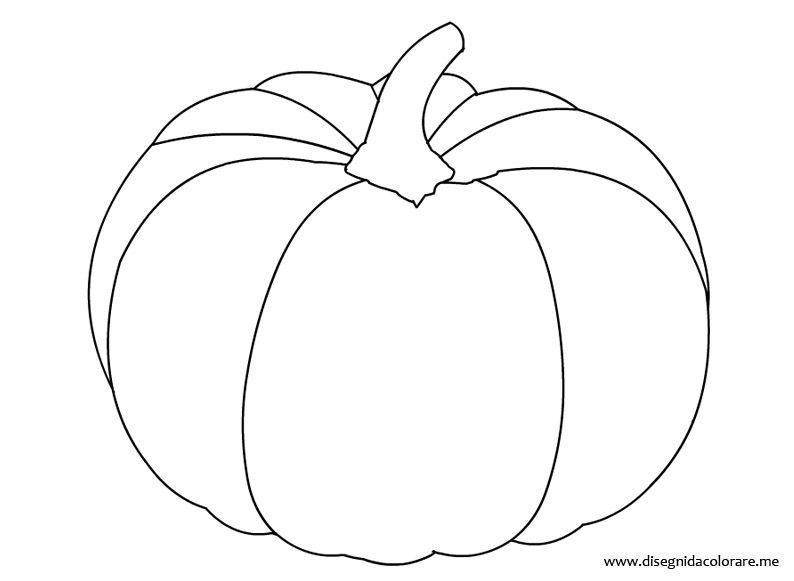 Zucca Halloween Da Colorare: Autunno-disegno-zucca