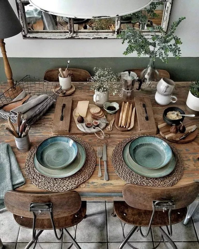 43 wonderful and cool farmhouse style dining room design ideas 18 ~ aacmm com is part of Chic decor diy - 43 wonderful and cool farmhouse style dining room design ideas 18