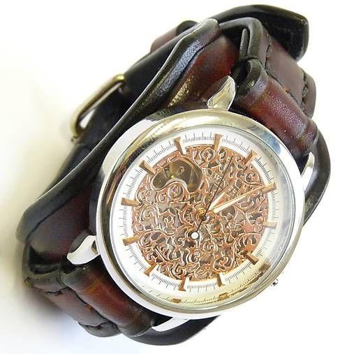 8a062c4bc Unisex hodinky, hnedý kožený remienok / leon | Hodinky | Brown ...