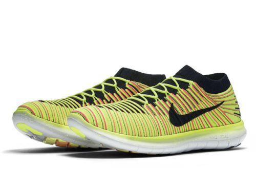 Nike Free RN Motion Flyknit OC Mens Running Shoes 13 Multi-Color Volt  843433 999