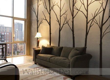 Great Winter Tree Forest Wall Sticker
