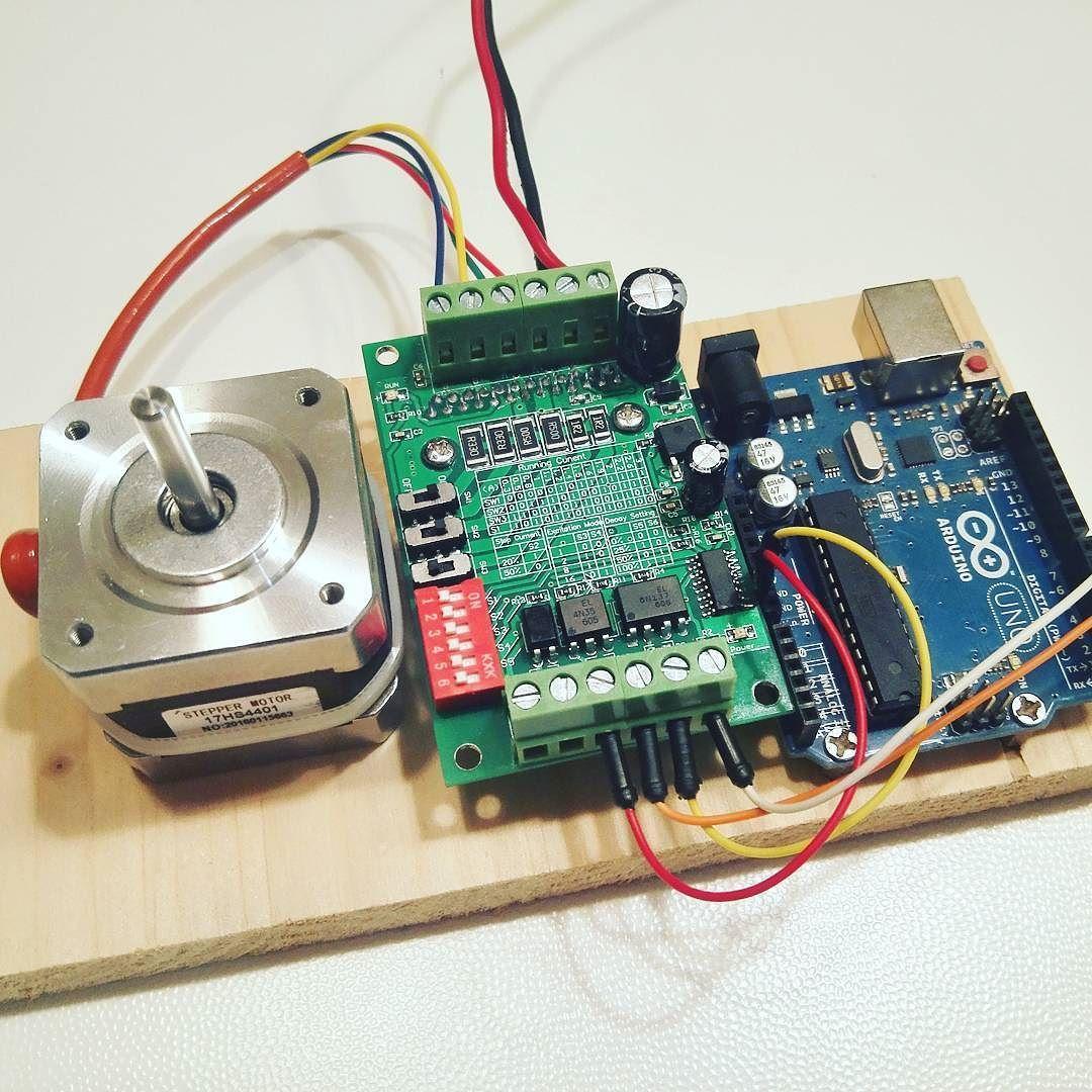 new toys nema 17 stepper motor tb6560 controller and arduino uno arduino  [ 1080 x 1080 Pixel ]