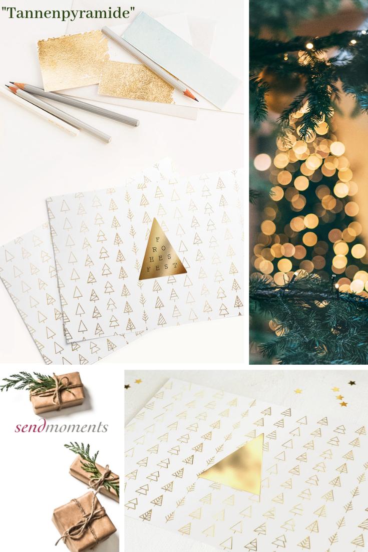 Wann Weihnachtskarten Versenden.Tannenpyramide Horizontal Einfach 148x105 Weiß Weihnachten
