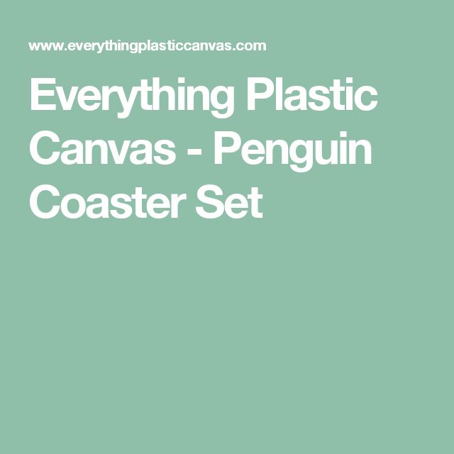 Everything Plastic Canvas - Penguin Coaster Set