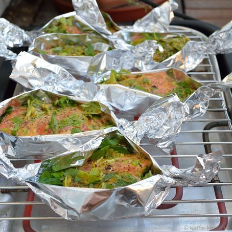Photo of Grilled salmon in honey mustard marinade – Katha cooks!