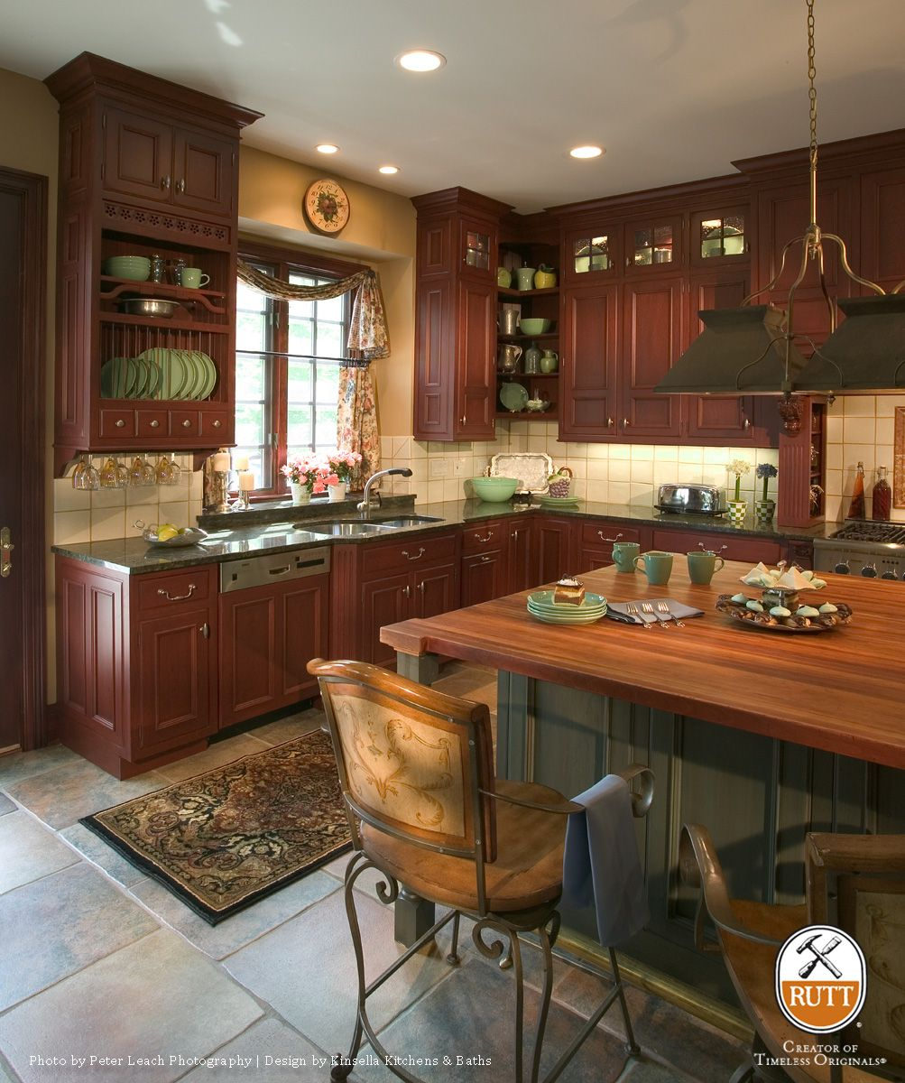 Rutt Handcrafted Cabinetry Abbey Kitchen Dining Kitchen