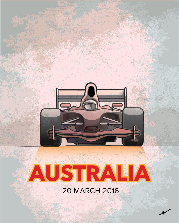 2016 Formula One Poster: Australia