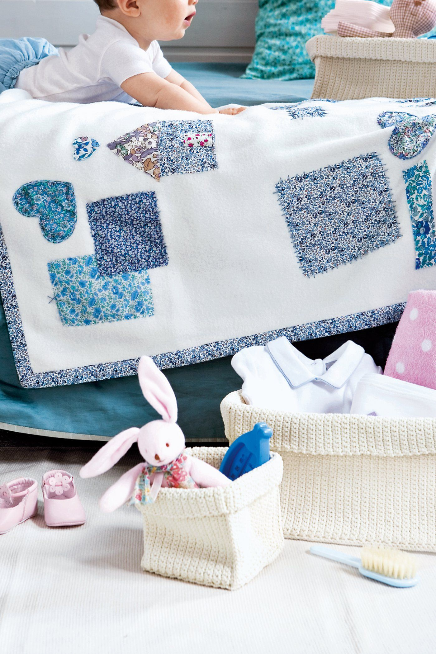 3bcd792508582 DIY bébé   des idées de couvertures à faire soi même
