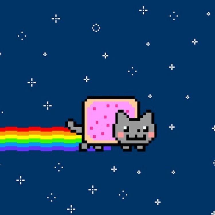 Twenty Five Iconic Cat Memes And Pics Of The 2010s Nyan Cat Neon Cat Cat Memes