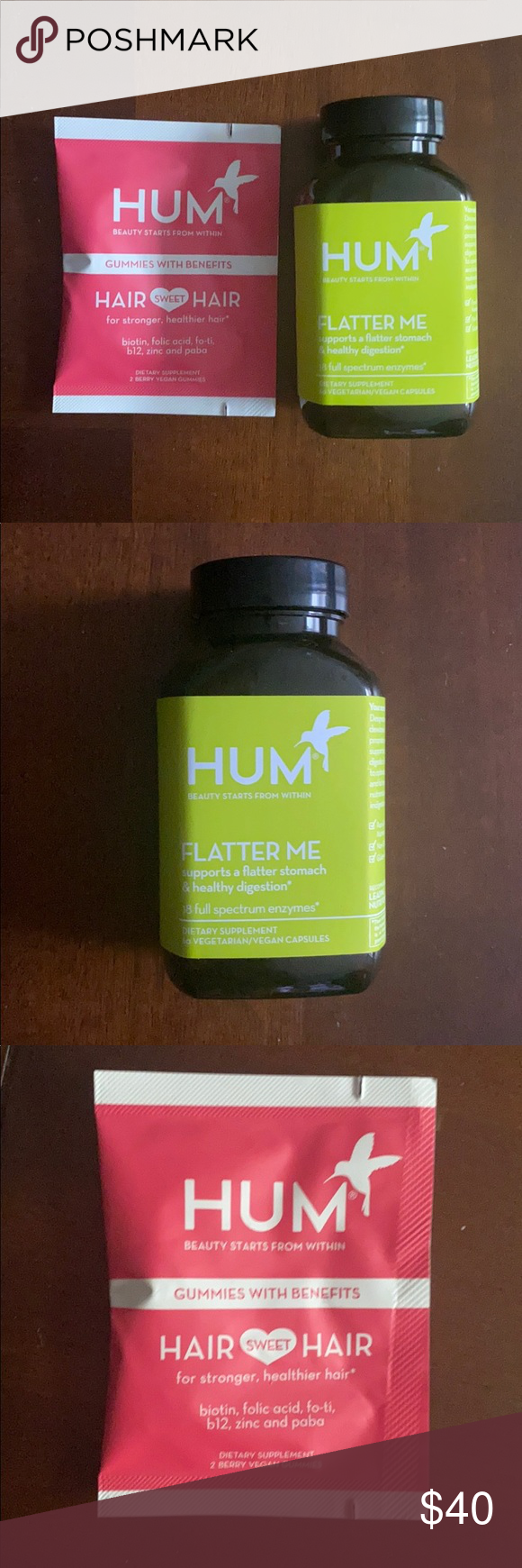 NEW HUM Dietary Supplements for Stomach and Hair NWT (With