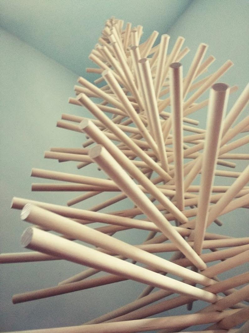 Wood Christmas Tree Modern Minimalist Christmas Tree Wood Dowel Christmas Tree Will Ar In 2020 Wood Christmas Tree Wooden Christmas Trees Diy Christmas Tree Storage