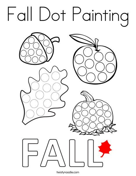 Fall Dot Painting Coloring Page - Twisty Noodle ...