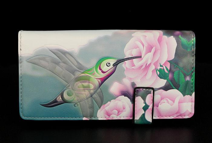 26.02$  Buy now - http://visnn.justgood.pw/vig/item.php?t=p44n4w59937 - Summer's Dance of the Hummingbird - Large Zipper Wallet - Shagwear - New