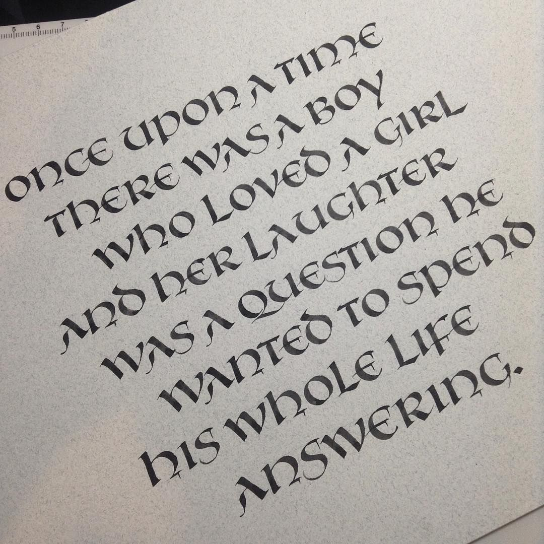 Uncial In Chinese Stick Ink On Strathmore Artagain From