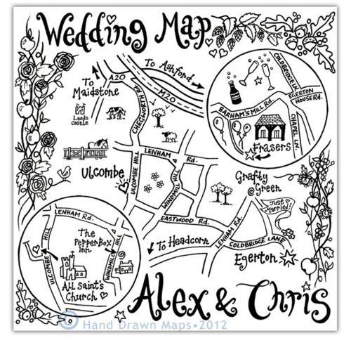 Draw Map For Wedding Invitation on