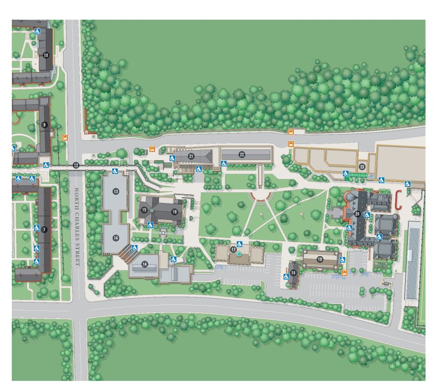 university of md campus map College Campus Map Illustration Aerial View Of Loyola College university of md campus map