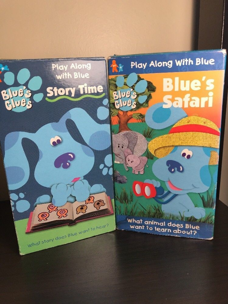 Blue S Clues Play With Blue Vhs Tapes Blue S Safari Story Time Tested Blues Clues Clue Story Time