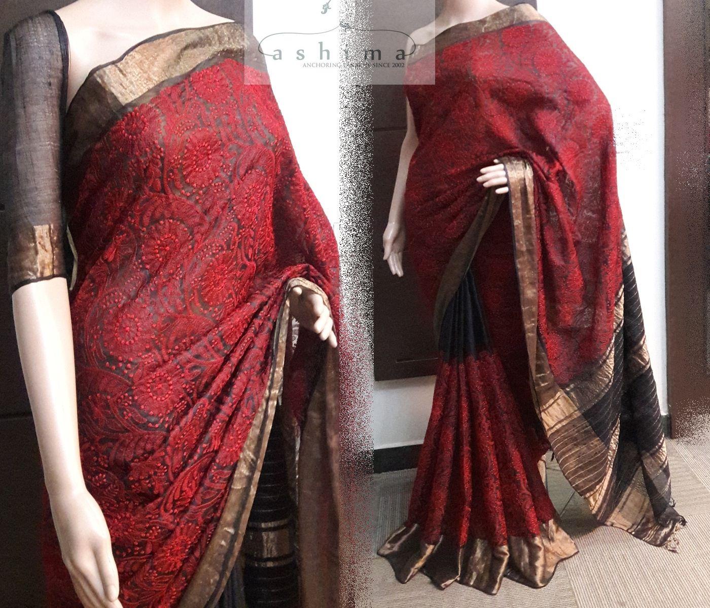 Tissue silk saree code  price inr  embroidered silk kota saree with